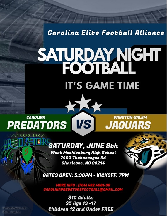 Carolina Predators Football June 9 2018