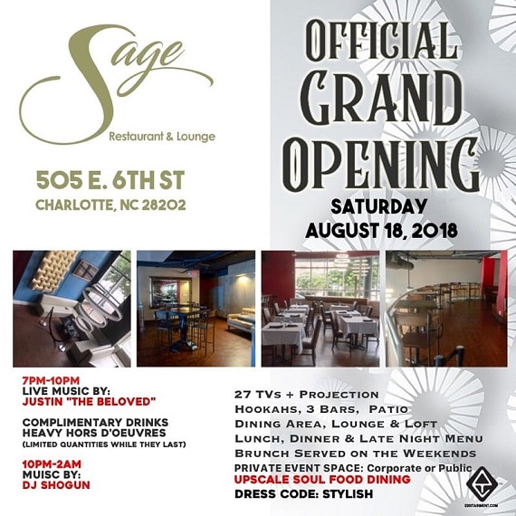 Sage Restaurant & Lounge Official Grand Opening!!!