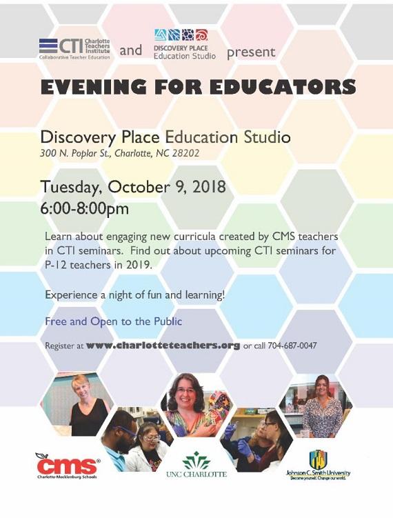 Evening for Educators Charlotte 2018