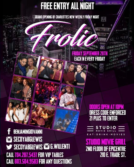 Frolic Friday Nights Epicentre Sep 2018