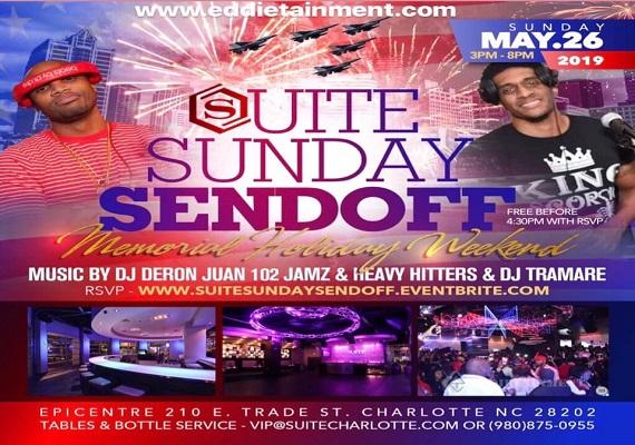 Suite Sunday SendOff – DayParty – Memorial Weekend
