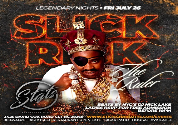 SLICK RICK | LEGENDARY NIGHTS | FRI JULY 26 @ STATS