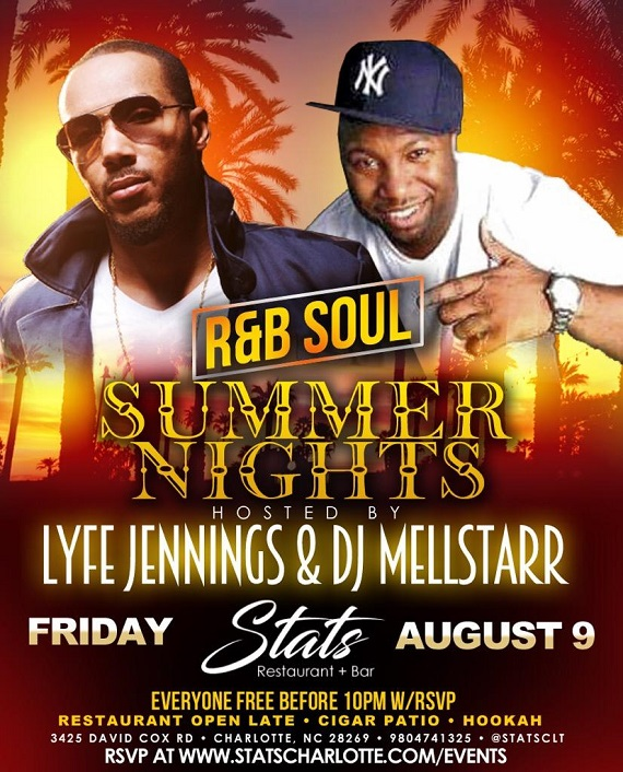 Lyfe Jennings RnB Soul Summer Nights Stats Charlotte