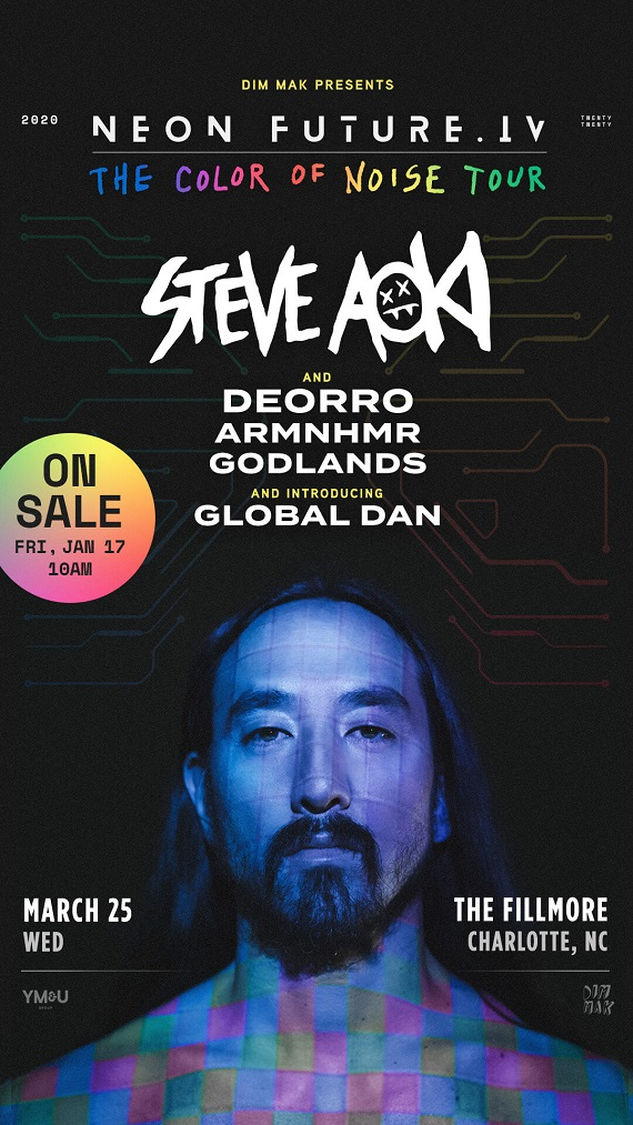 Steve Aoki Neon Future IV The Color of Noise Tour Charlotte